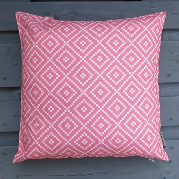Outdoor Kissen Little diamond rosa dunkel 47 cm Garten für draußen