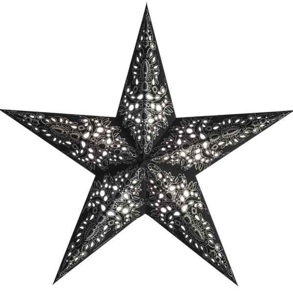 Starlightz Stern Mono schwarz silber 60 cm