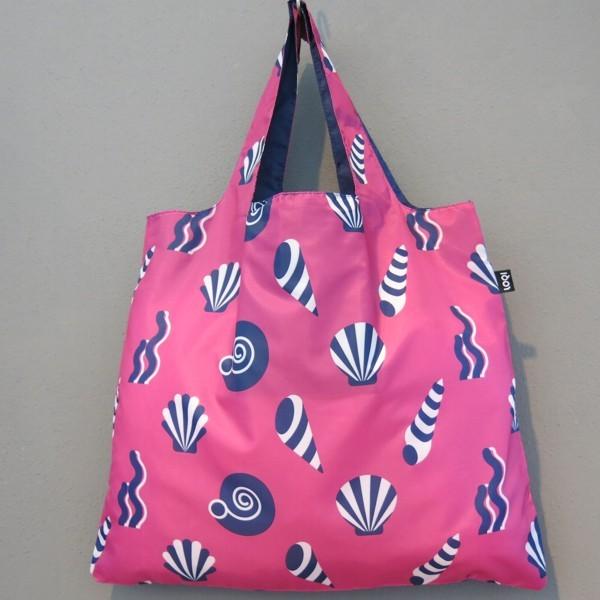 LOQI Tasche NAUTICAL Shells Muscheln bag Falt-Shopper