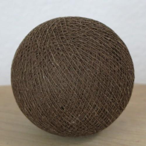 Cotton Ball Lights Kugel mud braun für Bälle Lichterkette Baumwolle