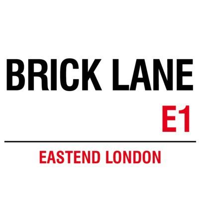 Metallschild Brick Lane mittel Blechschild London Magnettafel