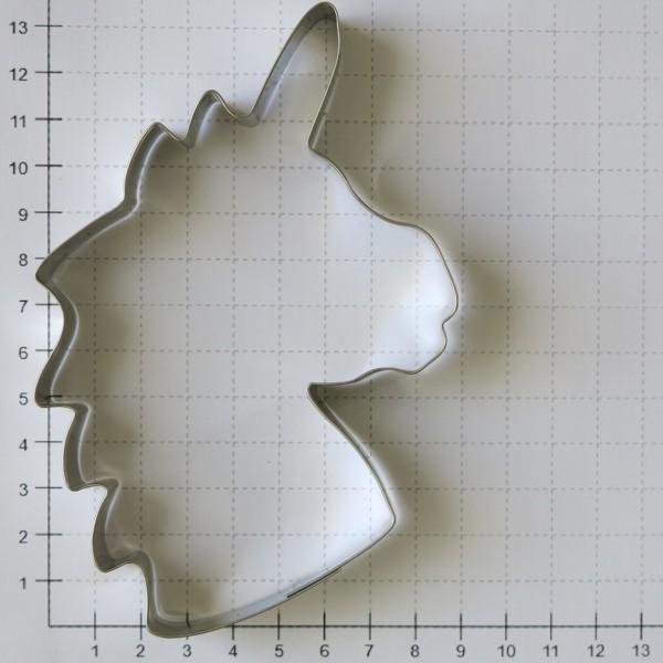 Ausstechform Einhorn 13,5 cm Ausstecher Einhornkopf Edelstahl Städter