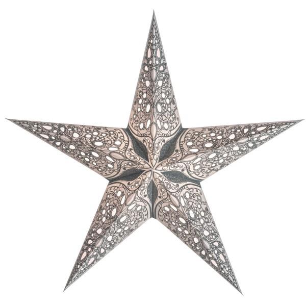Starlightz Stern Raja silber 45 cm Papierstern Leuchtstern weiß
