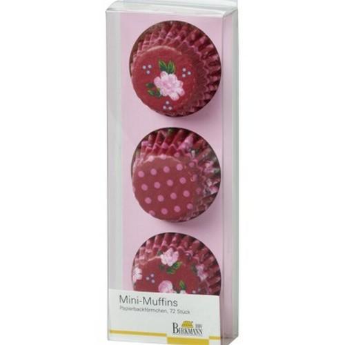 Mini Muffinförmchen Cupcake Papierförmchen Muffin La vie en Rose rot Rosen Birkmann
