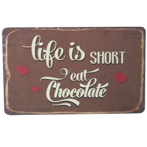 Rannenberg Frühstücksbrettchen Life is short eat Chocolate Schokolade Schneidebrett