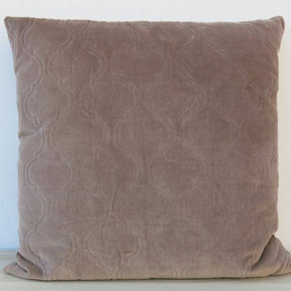 Kissen Moroccan Velvet taupe 60 x 60 cm Samt mit Füllung