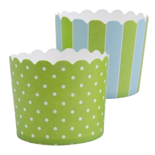 Muffinförmchen Cupcake Papier Cups hellgrün hellblau Muffin Städter 12 Stück