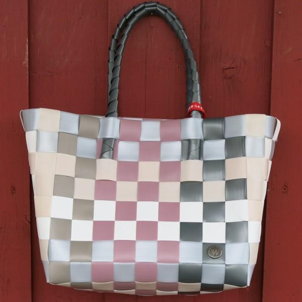 ICE BAG 5010 32 Witzgall Shopper Einkaufskorb grau altrosa weiß