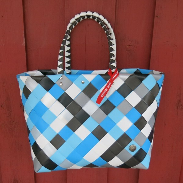 Witzgall ICE BAG Shopper 5017 69 blau grau weiß Einkaufskorb