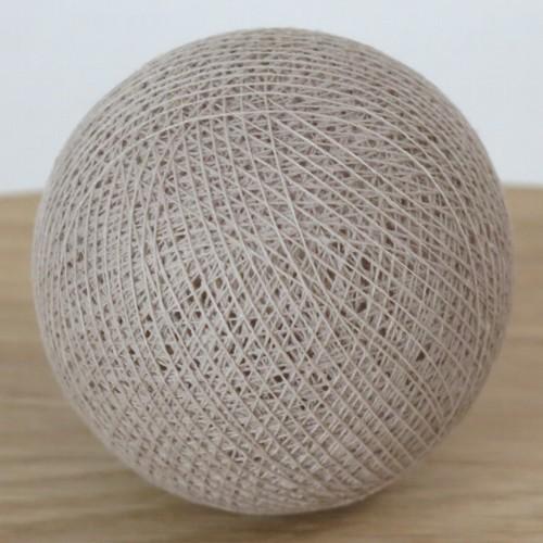 Cotton Ball Lights Kugel linen braun für Bälle Lichterkette Baumwolle