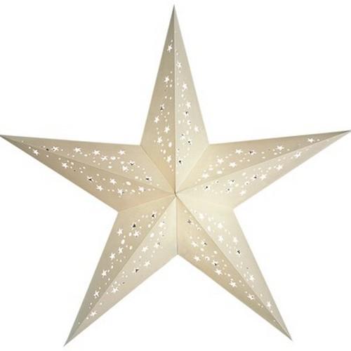 Starlightz Mia weiß Leuchtstern Papier Stern Lampe Weihnachtsstern