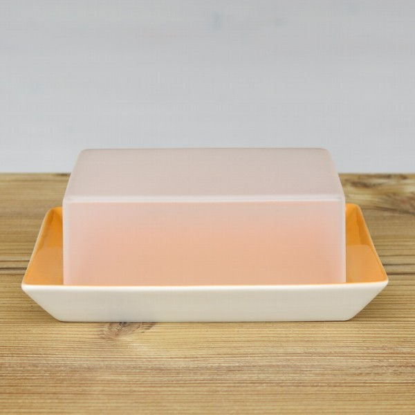 Arzberg Tric Butterdose orange Porzellan
