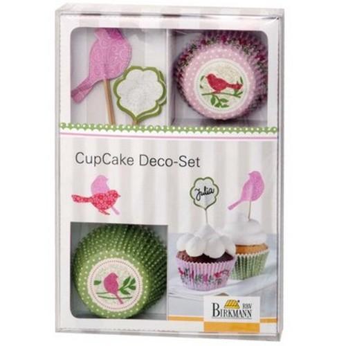 Muffinförmchen Cupcake Papierförmchen Muffin Deko Set Vogel Birkmann
