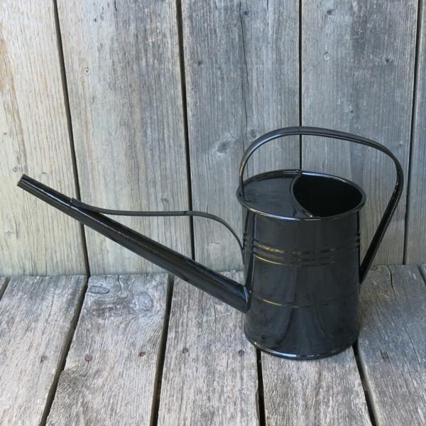 Gießkanne Zink schwarz 1,5 l verzinkt Metall Zinkgießkanne