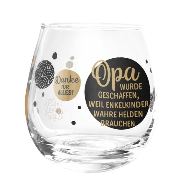 Formano Glas Spruch Opa wurde geschaffen wahre Helden Weinglas