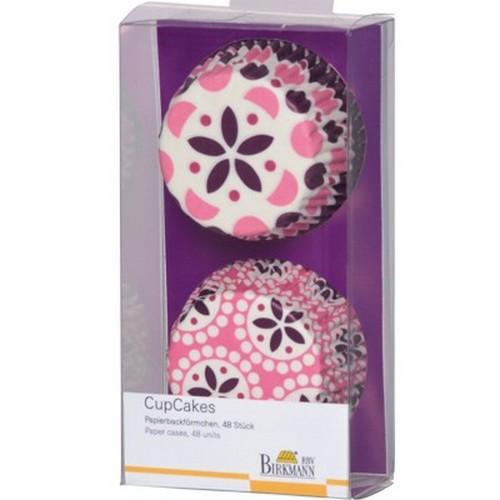 Muffinförmchen Cupcake Papierförmchen Muffin Spring Time Purple rosa lila Birkmann
