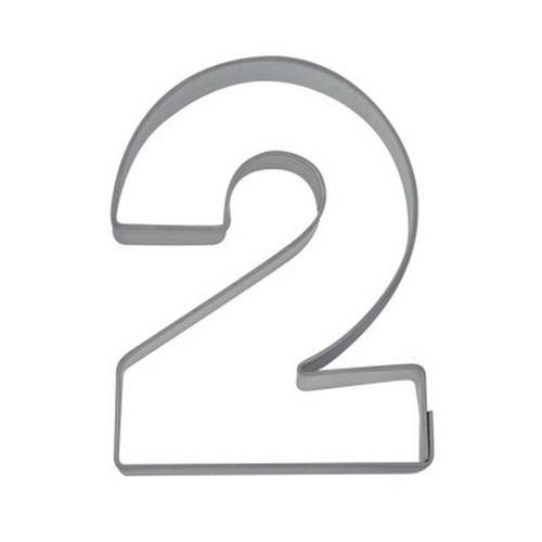 Ausstechform Zahl 2 Ausstecher Zwei Zahlen 6,5 cm Städter