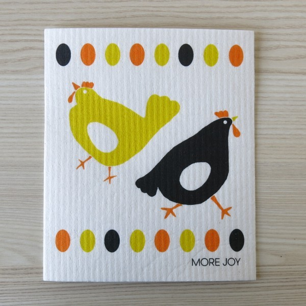 Spüllappen waschbar Hühner More Joy