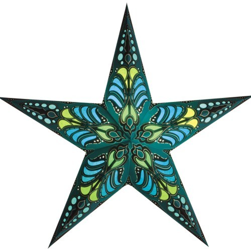 Starlightz Stern Ramadasa grün türkis teal Leuchtstern Papierstern