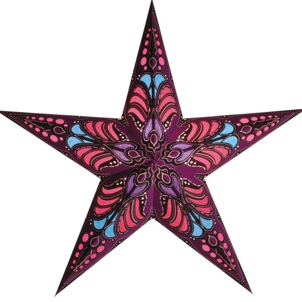Starlightz Stern Ramadasa mauve 60 cm Papierstern Leuchtstern lila