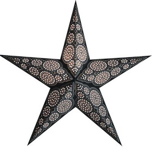 Starlightz Marrakesh black white Leuchtstern schwarz weiß Papier Stern Lampe Weihnachtsstern