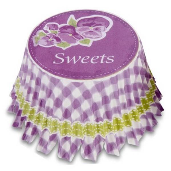 Muffinförmchen Cupcake Papierförmchen Muffin Sweets lila Veilchen Karo Städter