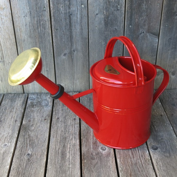 Gießkanne rot 5 l Zink verzinkt Zinkgießkanne Metall