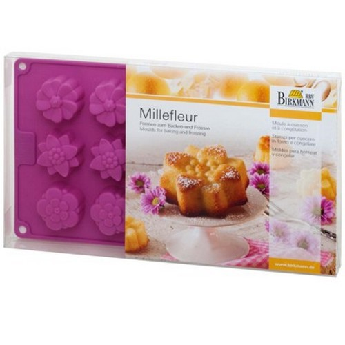Backform Millefleur klein Blume Blumen Silikon 15 er Birkmann