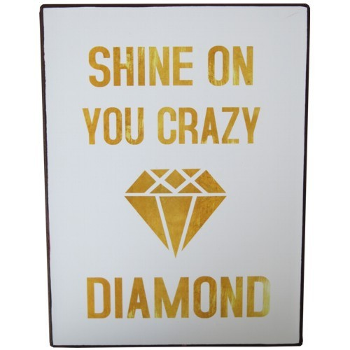 Metallschild Shine on you crazy diamond Blechschild Lafinesse