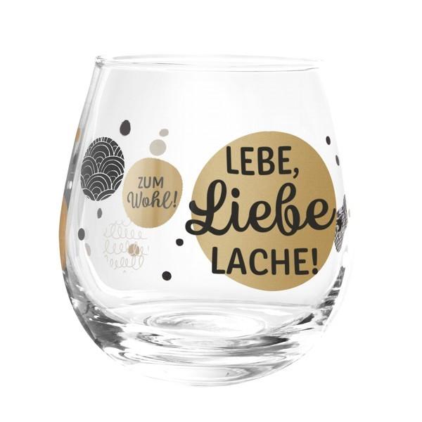 Formano Glas Spruch Lebe Liebe Lache Prosit Wein Wasser Cocktail
