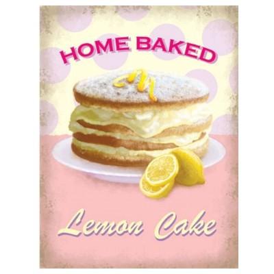Metallschild Kuchen mittel lemon cake Blechschild Magnettafel
