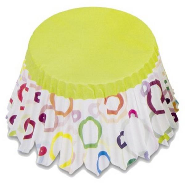 Muffinförmchen Cupcake Papierförmchen Muffin Party grün Kreise Städter