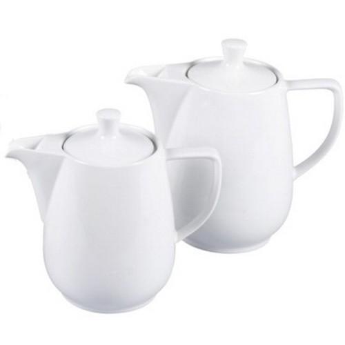 Friesland Kaffeekanne 0,35 l weiß Porzellan vormals Melitta Minden 50er Jahre