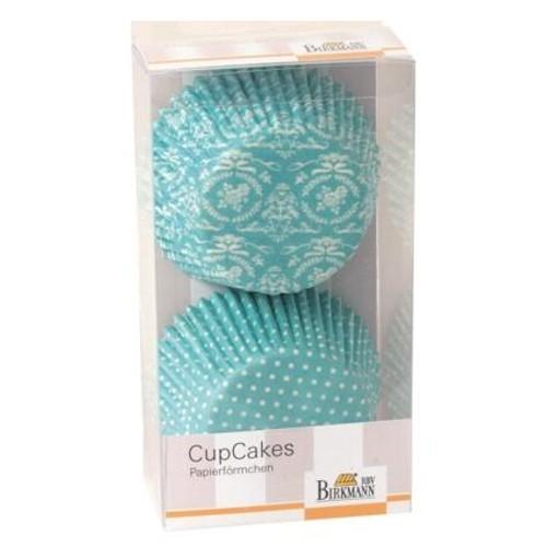 Muffinförmchen Cupcake Papierförmchen Muffin Punkte Ornament hellblau Birkmann
