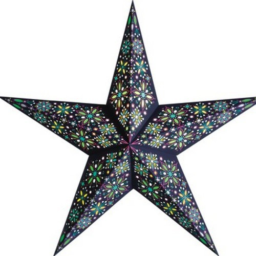 Starlightz Frankie türkis grün Leuchtstern Papier Stern Lampe Weihnachtsstern