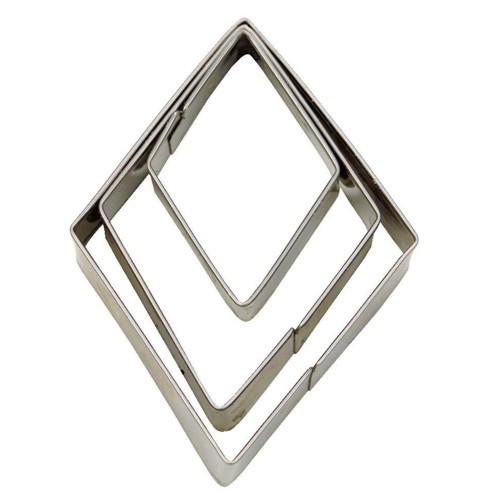 Ausstechform Terrassen Rhombus 3 4 5 cm 3 Stück Ausstecher Städter