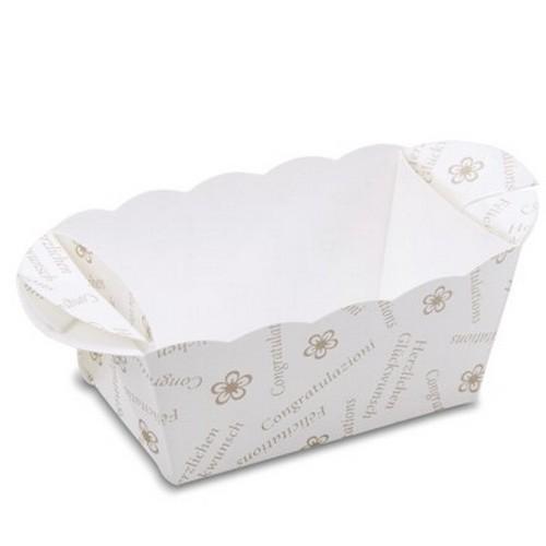 Backform Mini Kuchen Glückwünsche Papier Einweg Einmal Städter