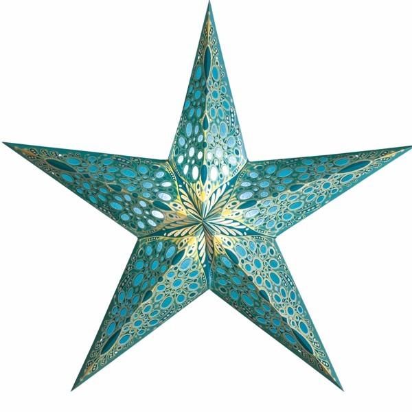 Starlightz Stern Festival türkis 60 cm Leuchtstern Faltstern Papier Weihnachtsstern