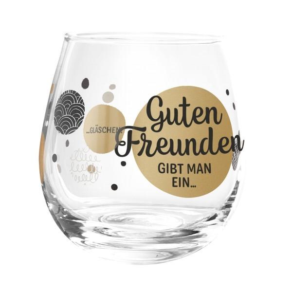 Formano Glas Spruch Guten Freunden gib man ein Gläschen Cocktail Wein