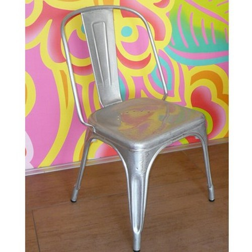 Tolix Stuhl AC galvanise verni Zink verzinkt Metall Eisen ORIGINAL chair