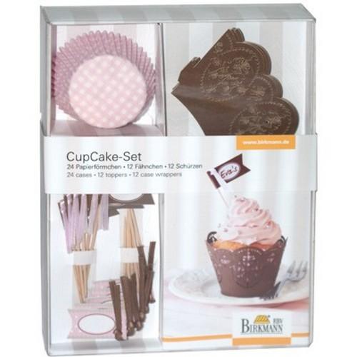 Muffinförmchen Cupcake Papierförmchen Muffin Deko Set Schoko Rose Birkmann