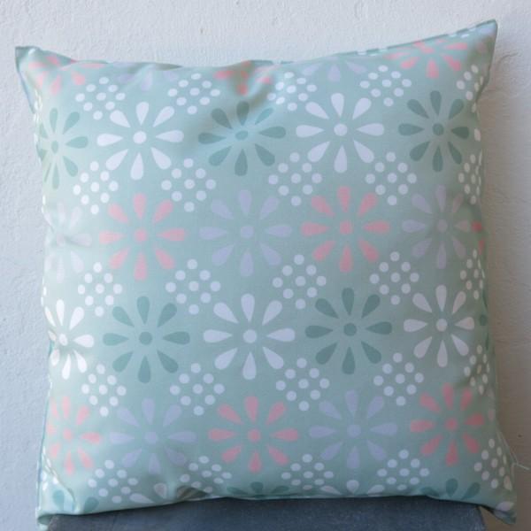 outdoor kissen mint 47 cm daisy flower multi garten f r. Black Bedroom Furniture Sets. Home Design Ideas