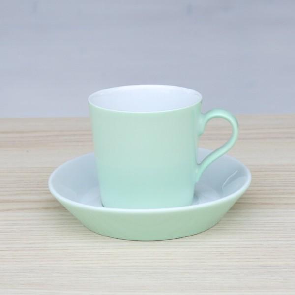 Arzberg Tric Espressotasse hellgrün 2 tlg Porzellan grün