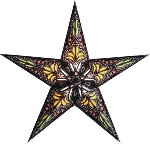 Starlightz Jaipur braun gelb Leuchtstern Papier Stern Lampe