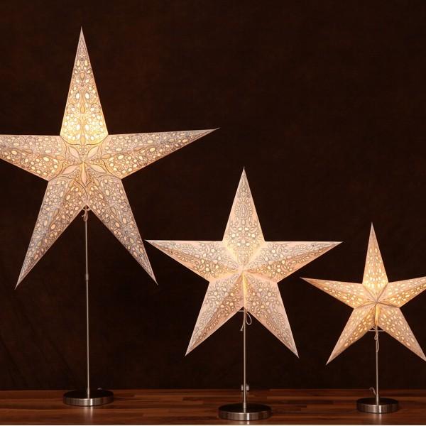Starlightz Lampenfuß Tischständer Lampenständer silber chrom