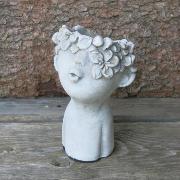 Pflanztopf Frauen Kopf zum Bepflanzen Garten Büste Blumen Topf Valo 18 cm