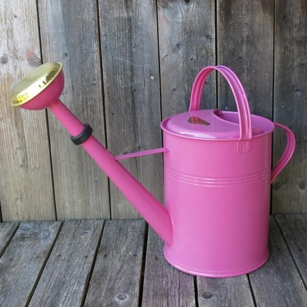 Gießkanne Zink pink 9 l Zinkgießkanne verzinkt Metall