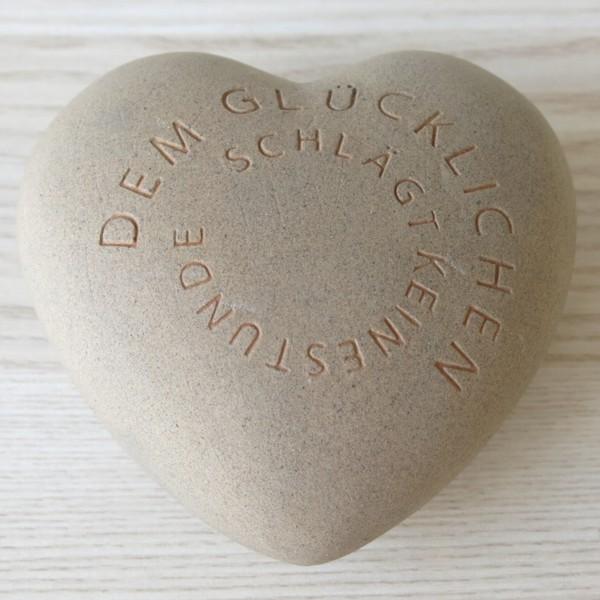 Räder Poetry Hearts Dem Glücklichen schlägt keine Stunde Herz Keramik