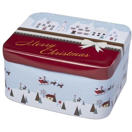 Plätzchendose Merry Christmas Winterland Keksdose Dose Blechdose Gebäckdose 12 x 10 x 6 cm Birkmann