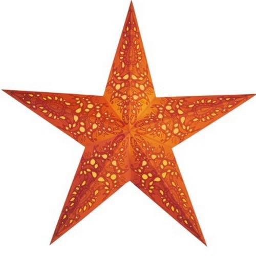 Starlightz Mono orange Leuchtstern Papier Stern Lampe Weihnachtsstern